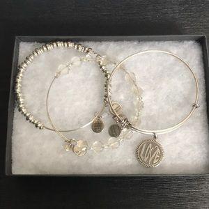Alex and Ani set of 3 bracelets